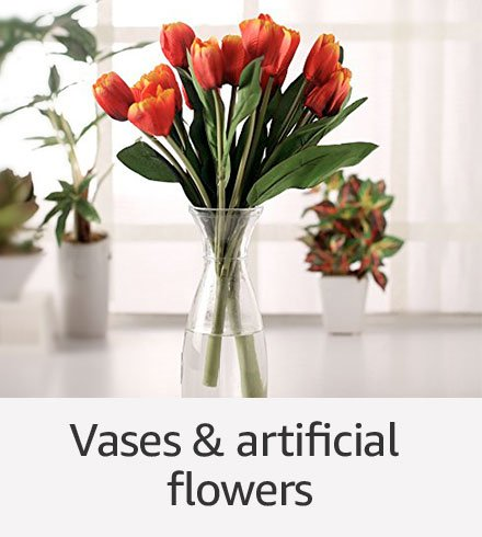 Vases & Artificial flowers