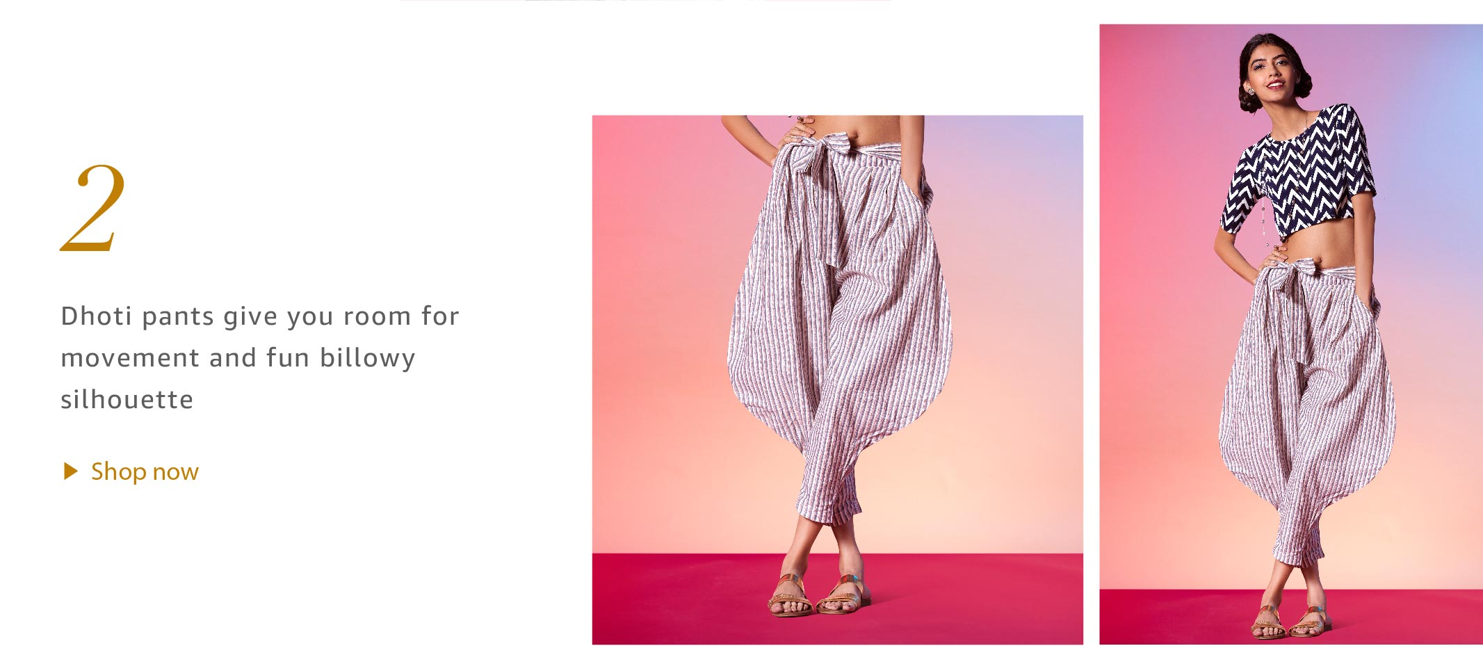 Crop Tops with Dhoti pants