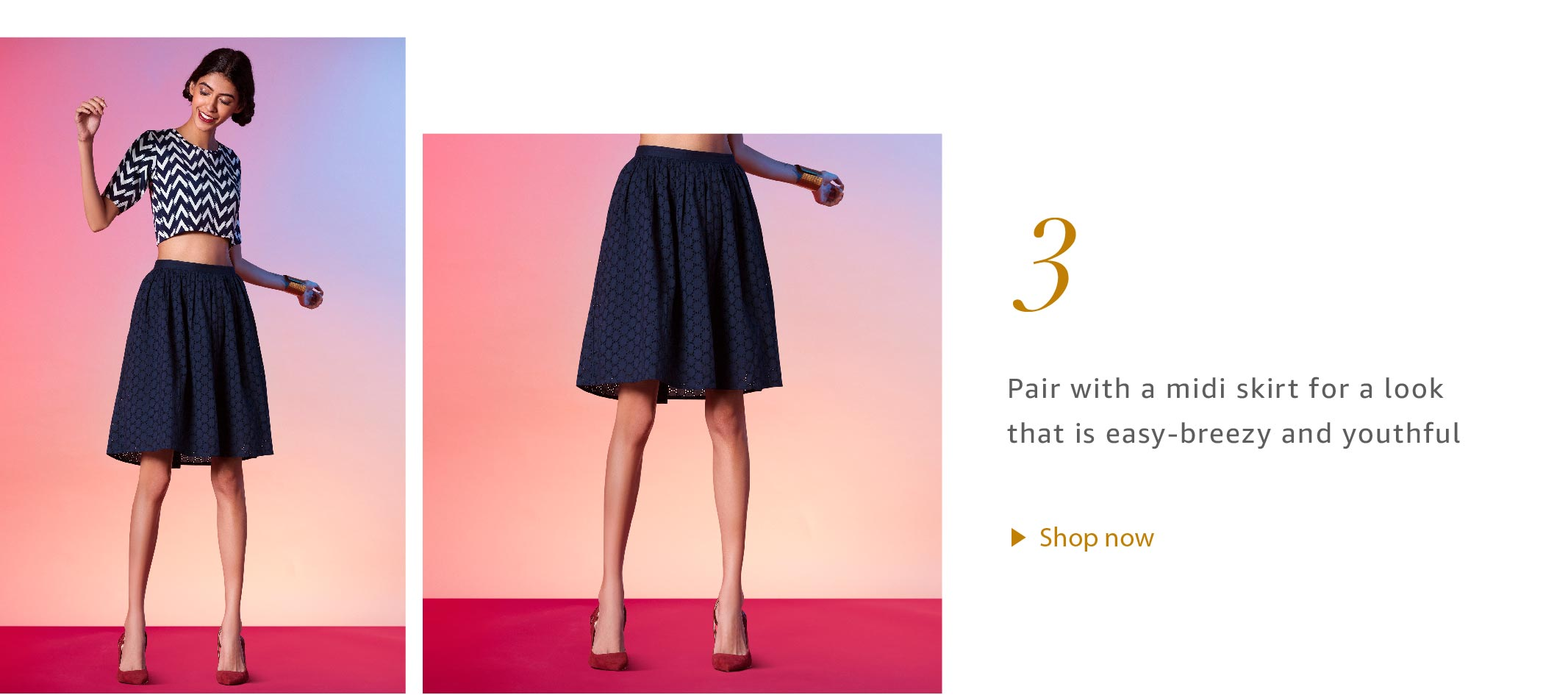 Crop Tops with Midi Skirts
