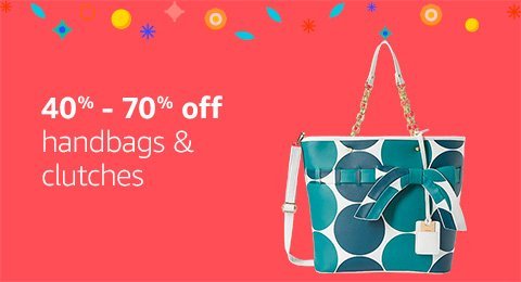 40% to 70% off Handbags and clutches