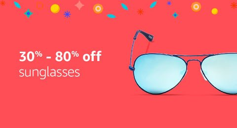 30% to 80% off sunglasses