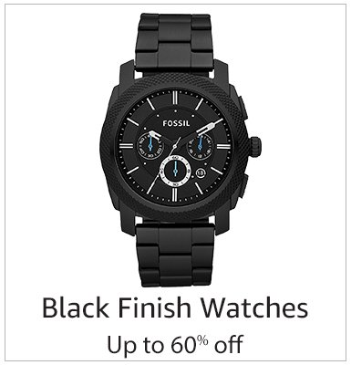 Black finish Watches