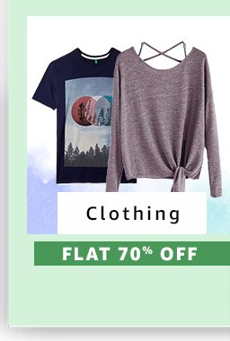 Clothing : Flat 70% Off