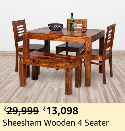 Sheesham Wooden 4 Seater