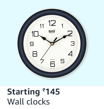 Wall clocks starting 145