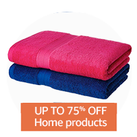 Up to 75% off: Home products