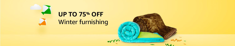 Winter furnishing: upto 75% off