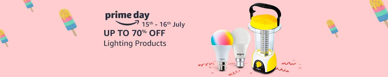 Up to 70% OFF Lighting Products
