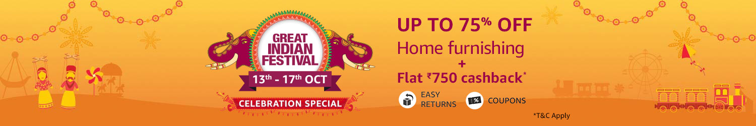 Home Furnishing up to 75% off