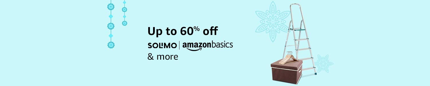 Amazon basics & Solimo up to 60% off