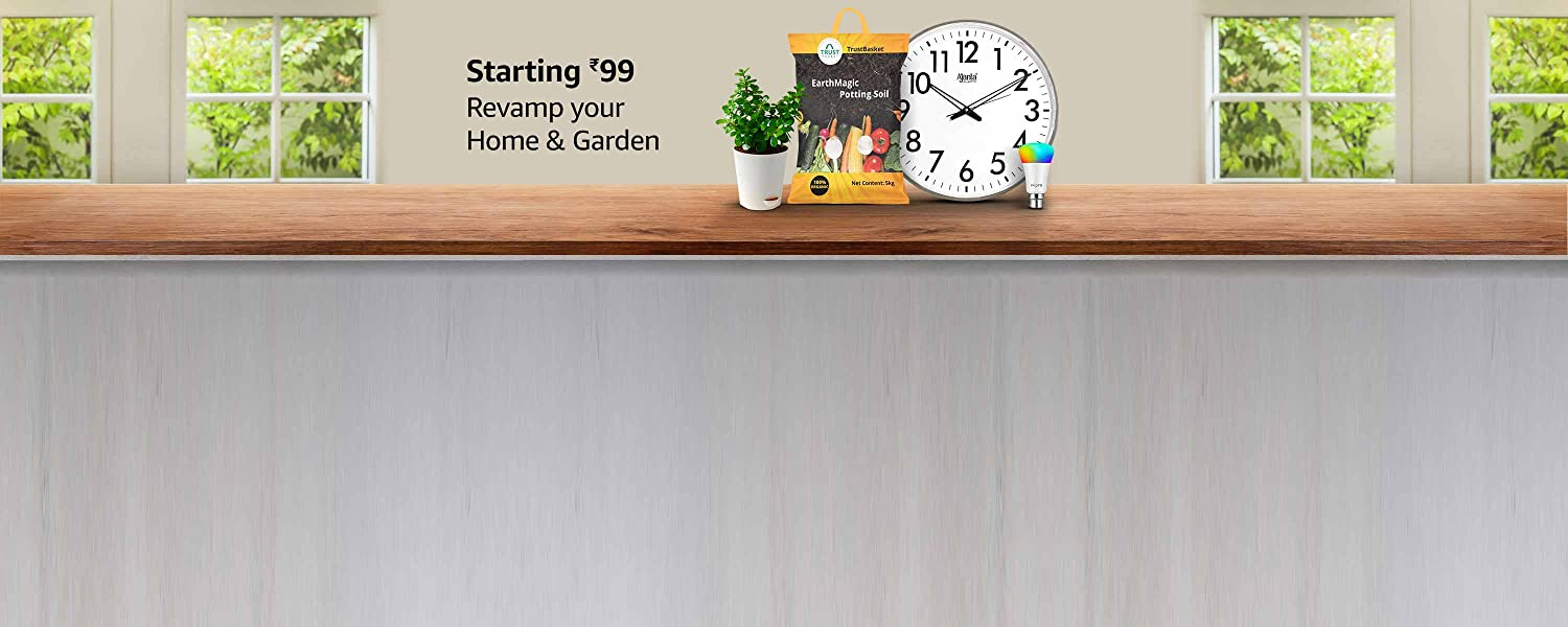 Amazon Latest Offers & Discount Codes - Home and Garden Essentials starting at just ₹99