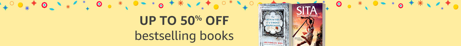 Up to 50% off on bestselling books