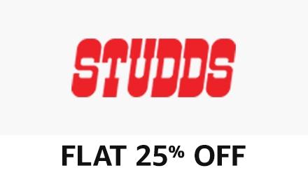flat 25% off studds