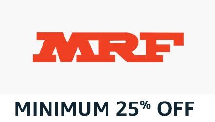 min 25% off MRF