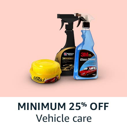 min 25% off vehicle care