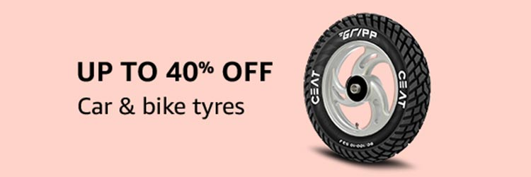 Car & bike tyres Up to 40% off