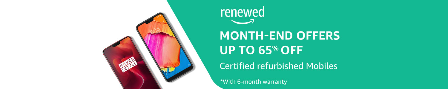 Certified Refurbished Mobiles on Amazon Renewed