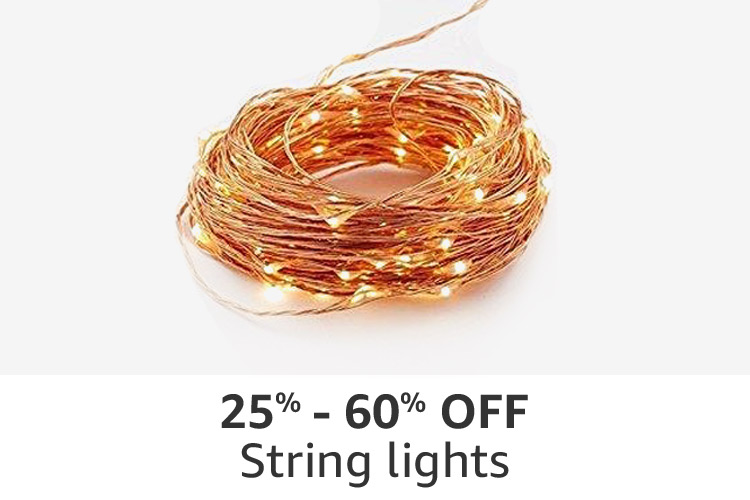 String lights : 25% - 60% off