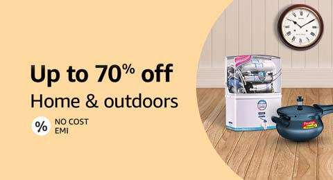 Up to 70% off on Home and outdoors
