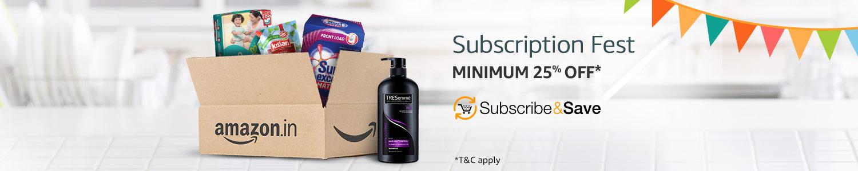 Subscription fest: Minimum 25% off