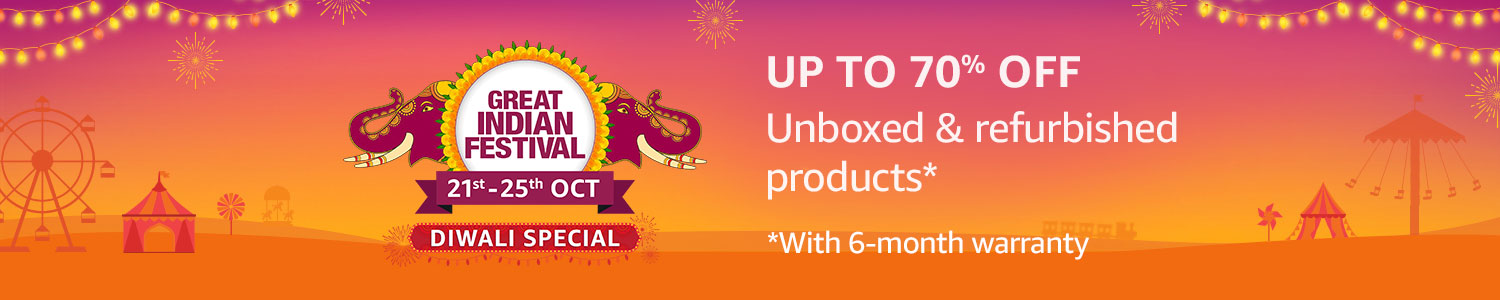 This Diwali shop for unboxed & refurbished products