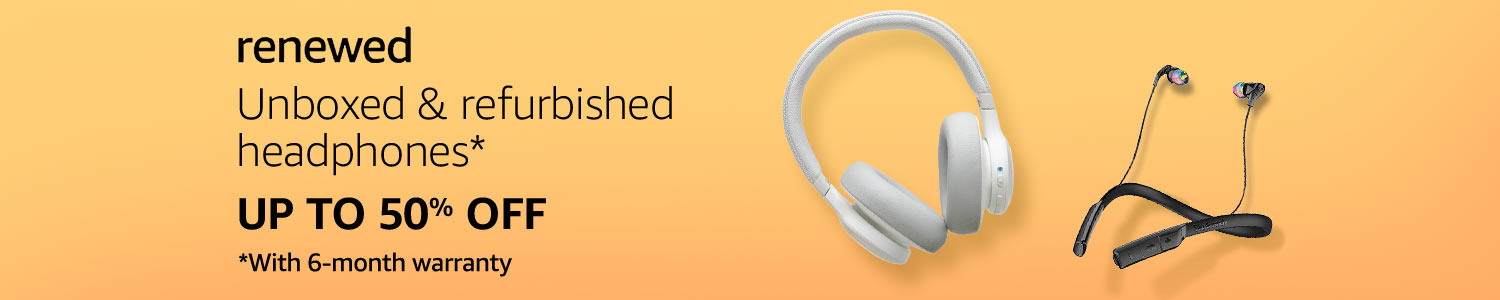 Unboxed & Refurbished Headphones on Amazon Renewed