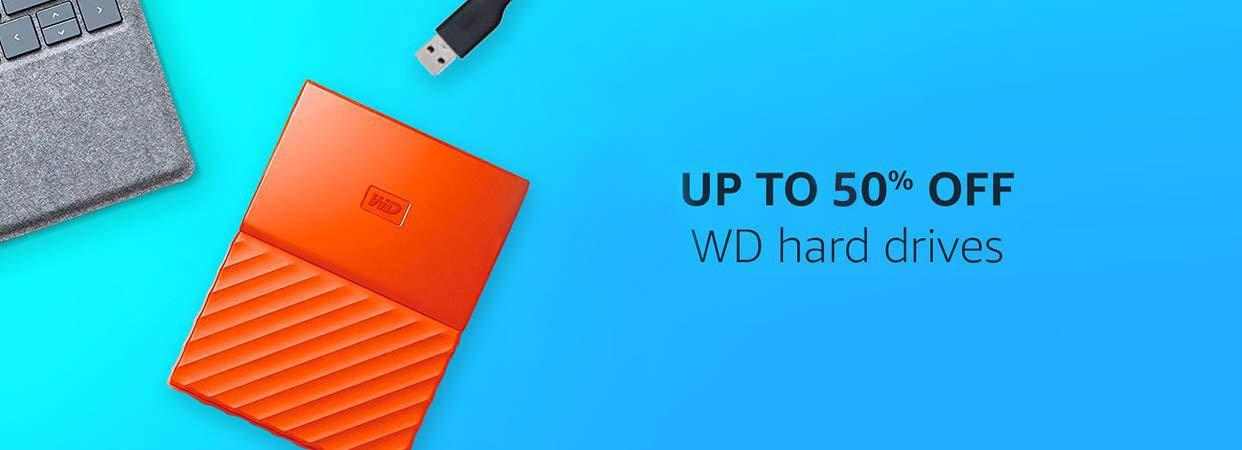 upto 50% off wd harddrives