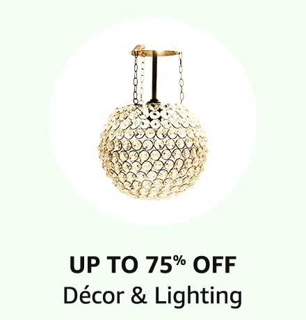 Up To 75% Off Decor & Lighting