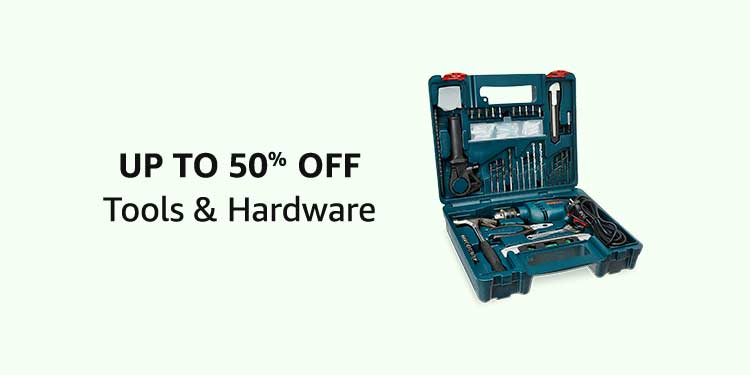 Up To 50% Off Tools & Hardware