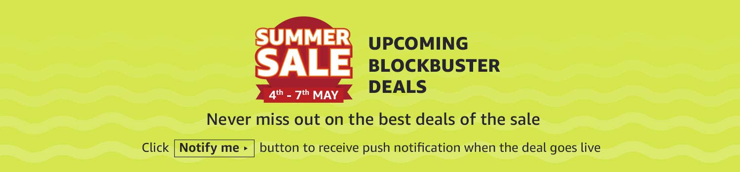 Upcoming Blockbuster Deals! Click 'Notify Me' button to  receive push notification when the deal goes live