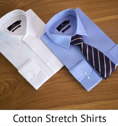 Cotton stretch shirts
