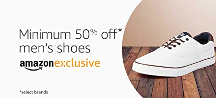 Formal and casual shoes available exclusively on Amazon.In. Min 50% off