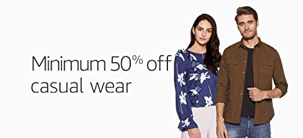 Minimum 50% off : Casual Wear for Men and Women