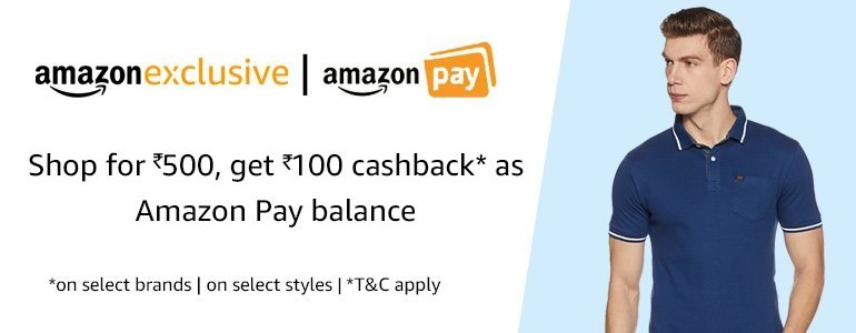 Buy for INR 500, get 100 as cashback