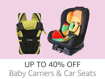 Carriers & Car Seats up to 40% off