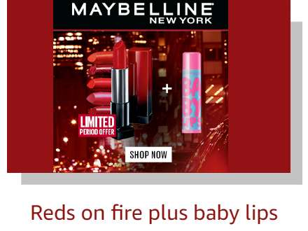 Maybelline reds on fire