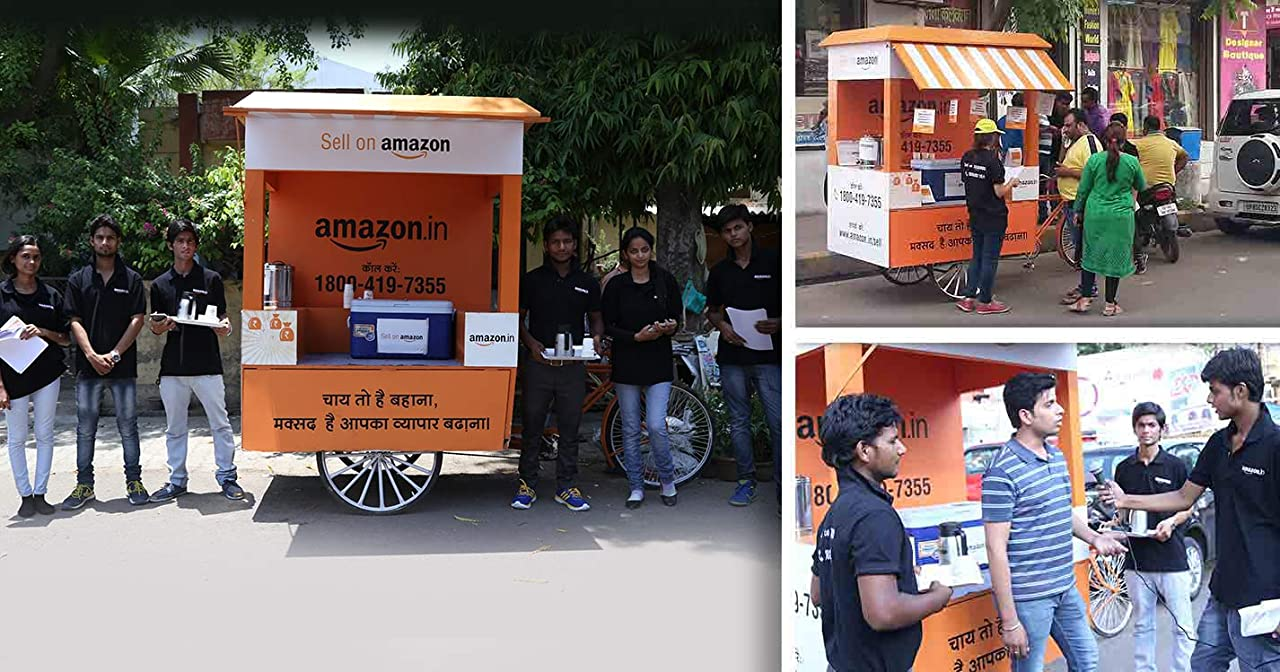 Amazon Chai Kart on the streets