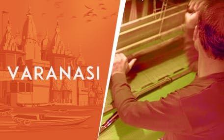Varanasi weaver at work