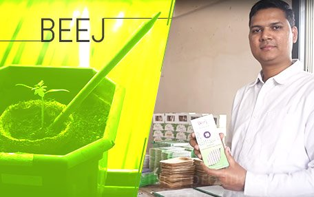 Jacob with his beej products