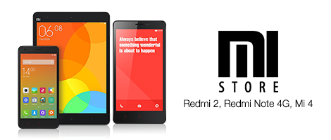 Mi Store Launch The bestselling REDMI 2, MI 4, and REDMI NOTE 4G - now available at Amazon.in