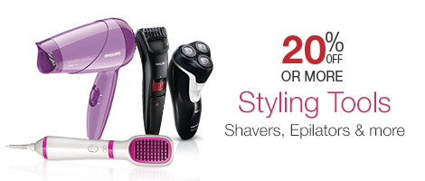 Styling Tools - 20% off Shavers, Epilators & more!