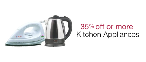 35% off or more on Kitchen Appliances