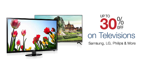 30% off on Televisions Samsung, LG, Philips and more - Get up to 30% off on a wide range of TVs.