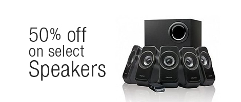 Up to 50% off on Speakers Find the best prices on a wide range of Speakers from JBL, Creative, Sony and more.
