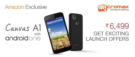 Get the brand new Micromax Canvas A1 with android one, available exclusively at Amazon.in.