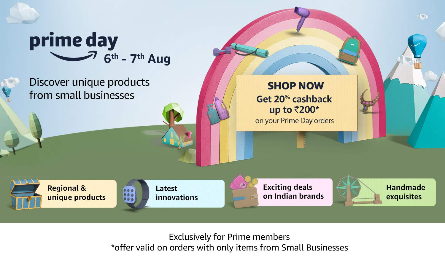 Prime day - Discover unique products from small businesses