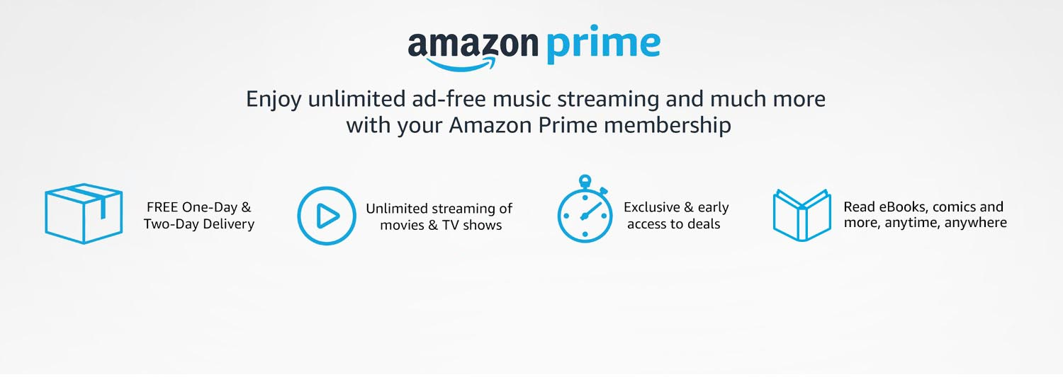 Unlimited movies and TV shows included with Prime Video