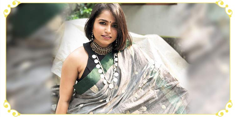 Bengali look with a handloom saree