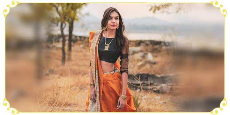 The beautiful hand-painted saree to style you up