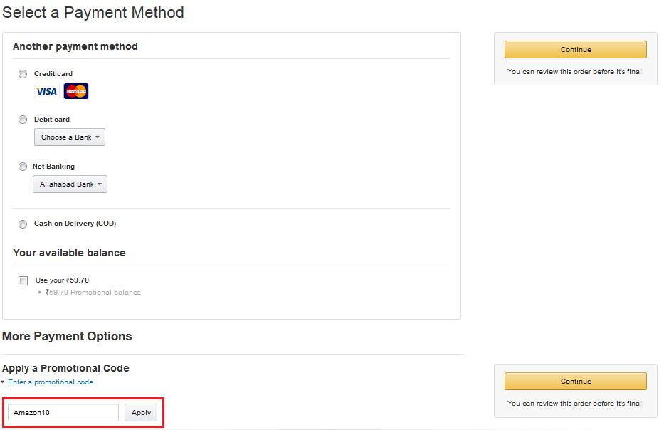 Amazon Voucher Code India Today